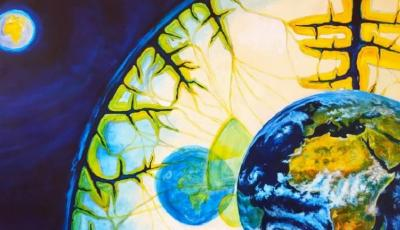 Erd-Bewusstsein, 1998, Öl auf Leinwand, 80x100 cm