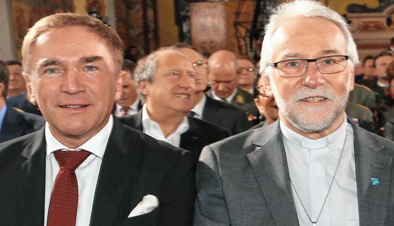 """v.li.: Superintendent Sauer und Diözesanbischof Marketz (Foto """"CarinthiJa"""": Rojsek-Wiedergut/Kronenzeitung)"""