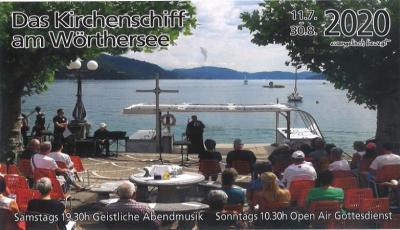 Open-Air-Gottesdienst beim Kirchenschiff am Wörthersee