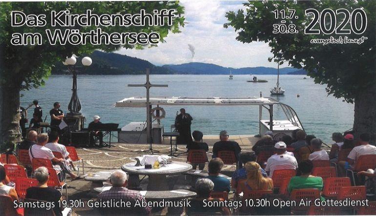 Bild 1: Geistliche Abendmusik beim Kirchenschiff am Wörthersee 2020