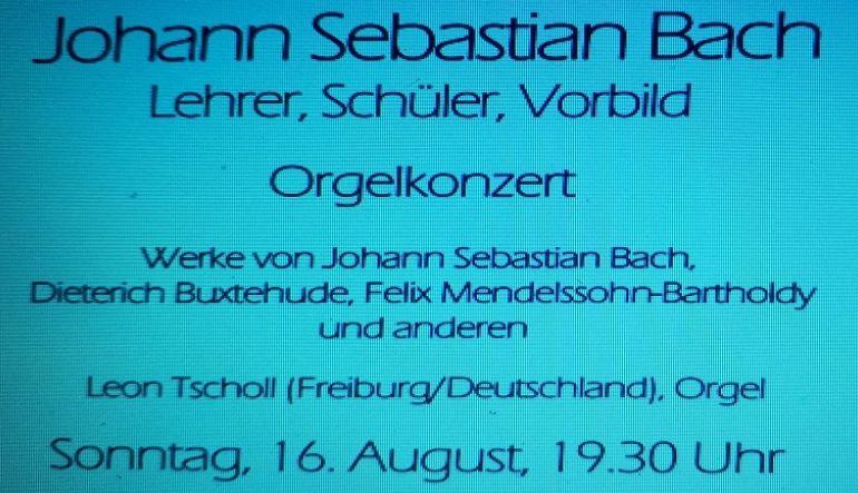 Teilausschnitt Plakat Orgelkonzert 16.08.2020