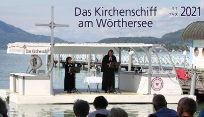 Das Kirchenschiff am Wörthersee