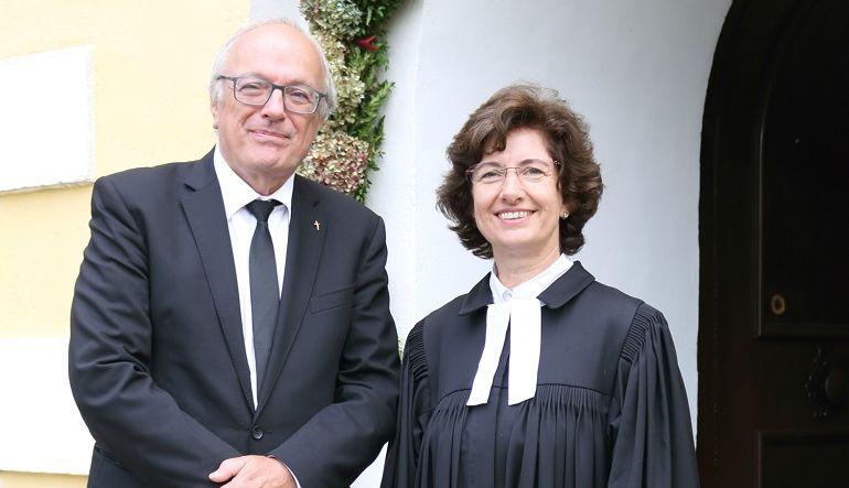 Bild cut (v. Christian Kohl)- Altbischof Dr. Michael Bünker und Seniorin Pfarrerin Dagmar Wagner-Rauca